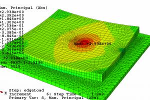 3DslabOnHGT_edgeLoad_thetaPos15K_overviewSMaxPrincipalAbs